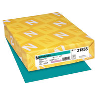 Astrobrights 21855 8 1/2 inch x 11 inch Terrestrial Teal Pack of 65# Smooth Color Paper Cardstock - 250 Sheets