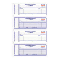Rediform Office 1L176 2 3/4 inch x 7 inch 2-Part Carbonless Purchase Order Book with 1600 Forms