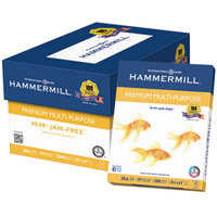Hammermill 106310 8 1/2 inch x 11 inch White Case of 20# Premium Multipurpose Paper - 5000 Sheets