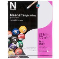 Neenah 91904 8 1/2 inch x 11 inch Bright White Pack of 65# Smooth Paper Cardstock - 250 Sheets