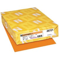 Neenah 26721 Exact Brights 8 1/2 inch x 11 inch Bright Orange Ream of 20# Copy Paper - 500 Sheets
