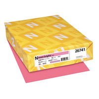 Neenah 26741 Exact Brights 8 1/2 inch x 11 inch Bright Pink Ream of 20# Copy Paper - 500 Sheets