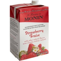 Monin 46 fl. oz. Strawberry Fruit Smoothie Mix