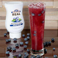 Real 16.9 fl. oz. Blueberry Puree Infused Syrup