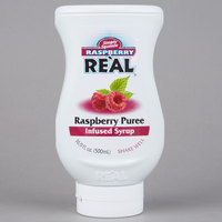 Real 16.9 fl. oz. Raspberry Puree Infused Syrup