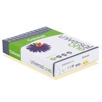 Universal Office UNV11201 8 1/2 inch x 11 inch Canary Ream of 20# Color Copy Paper - 500 Sheets