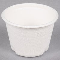 EcoChoice Biodegradable, Compostable Sugarcane / Bagasse 4 oz. Portion Cup   - 100/Pack