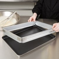 Baker's Mark 2 inch High Half-Size Aluminum Sheet Pan Extender