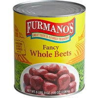Furmano's #10 Can 120 Count Whole Beets - 6/Case