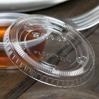 Solo PL200N Medium Clear Plastic Souffle / Cup Lid - 2500/Case