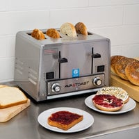 Avatoast THD27208 Heavy-Duty Switchable Bread and Bagel 4-Slice Commercial Toaster - 208V