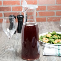 GET BW-1892-CL 64 oz. Customizable Polycarbonate Wine / Juice Decanter with Lid