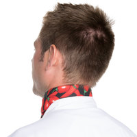 Intedge 36 inch x 15 inch Chili Pepper Patterned Chef Neckerchief / Bandana