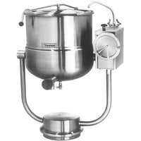 Cleveland KDP-40-T 40 Gallon Tilting 2/3 Steam Jacketed Pedestal-Mounted Direct Steam Kettle