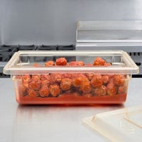Cambro 12186CW464 Camwear 18 inch x 12 inch x 6 inch Yellow Polycarbonate Food Storage Box