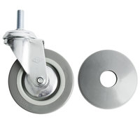 Choice 4 inch Swivel Stem Caster for Stainless Steel Utility Carts