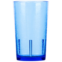 Cambro D12608 Del Mar 12 oz. Sapphire Blue Customizable SAN Plastic Tumbler - 36/Case