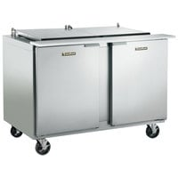 Traulsen UST4812-LR 48 inch 1 Left Hinged 1 Right Hinged Door Refrigerated Sandwich Prep Table
