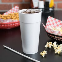 Dart 24J16 24 oz. Customizable White Foam Cup - 500/Case