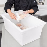 Cambro 182612P148 26 inch x 18 inch x 12 inch White Poly Food Storage Box