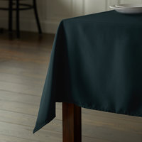 Intedge 72 inch x 120 inch Rectangular Forest Green 100% Polyester Hemmed Cloth Table Cover