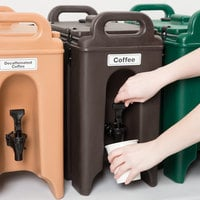 Cambro 250LCD131 Camtainers® 2.5 Gallon Dark Brown Insulated Beverage Dispenser
