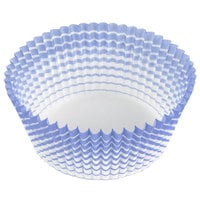 Ateco 6438 2 inch x 1 1/4 inch Blue Striped Baking Cups - 200/Box