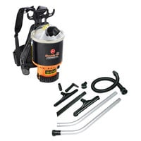 "Hoover C2401 6.4 Qt. Commercial Backpack Vacuum Cleaner with 1 1/2"" Attachments"