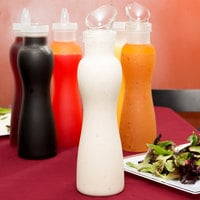 GET SDB-32 32 oz. Polycarbonate Frosted Salad Dressing / Juice Bottle and Lid Set