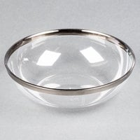 Sabert IMB144S 10 oz. Clear Bowl with Silver Rim - 144/Case