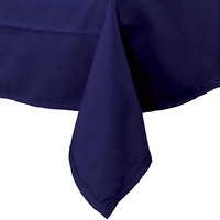 Intedge 54 inch x 72 inch Rectangular Navy Hemmed Polyspun Cloth Table Cover