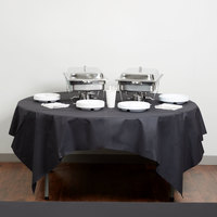 Hoffmaster 210435 82 inch x 82 inch Linen-Like Black Table Cover - 12/Case