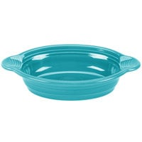 Fiesta Tableware from Steelite International HL587107 Turquoise 13 oz. Oval China Baker / Casserole Dish - 4/Case