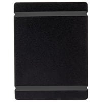 Cal-Mil 2034-57-13 5 inch x 7 inch Black Menu Board with Flex Bands