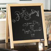 Aarco TA-1 14 inch x 12 inch Tabletop A-Frame Sign with Black Chalkboard