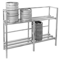Channel KSR72 Assembled 8 Keg Rack - 71 1/2 inch x 20 inch x 55 inch