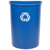 Rubbermaid FG352073BLUE 21 Gallon Blue Half Round Recycling Bin