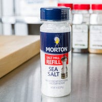 Morton 14 oz. Extra Coarse Sea Salt Grinder Refill - 12/Case