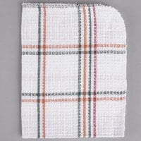 Choice 13 inch x 15 inch Striped 100% Cotton Waffle-Weave Dish Cloth - 12/Pack