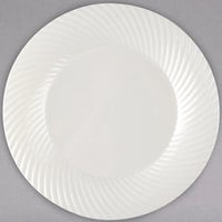 Visions Wave 7 inch Bone / Ivory Plastic Plate - 180/Case