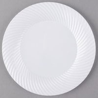 Visions Wave 7 inch White Plastic Plate - 180/Case