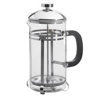 Acopa 33 oz. Glass / Stainless Steel French Coffee Press