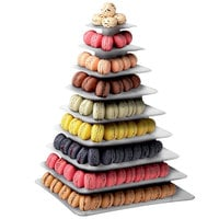 Matfer Bourgeat 681590 9-Tier Clear Macaron Pyramid Display Stand