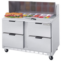 Beverage-Air SPED48HC-10-4 48 inch 4 Drawer Refrigerated Sandwich Prep Table