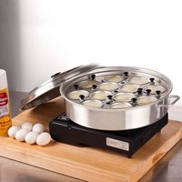 Aluminum 12 Cup Egg Poacher with Lid – 14 1/8 inch x 2 1/2 inch