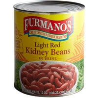 Furmano's #10 Can Light Red Kidney Beans - 6/Case