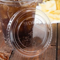 Solo 662TS Clear Plastic Lid with Straw Slot - 1000/Case