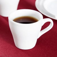 Tuxton BPF-0308 3 oz. Porcelain White Europa China Espresso Cup - 24/Case