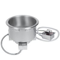 Hatco HWB-11QTD 11 Qt. Single Drop In Round Heated Soup Well with Drain - 208V