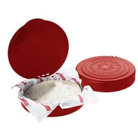 Carlisle 071029 7 inch Terra Cotta Polypropylene Tortilla Server with Hinged Lid - 12/Case